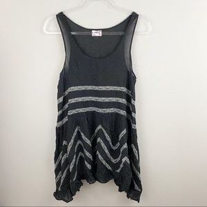 Free People • Black Voile Slip Dress Flaw